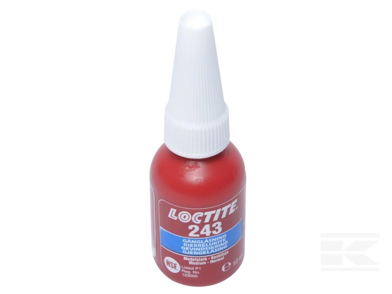 Loctite skruesikring 243, 10 ml.