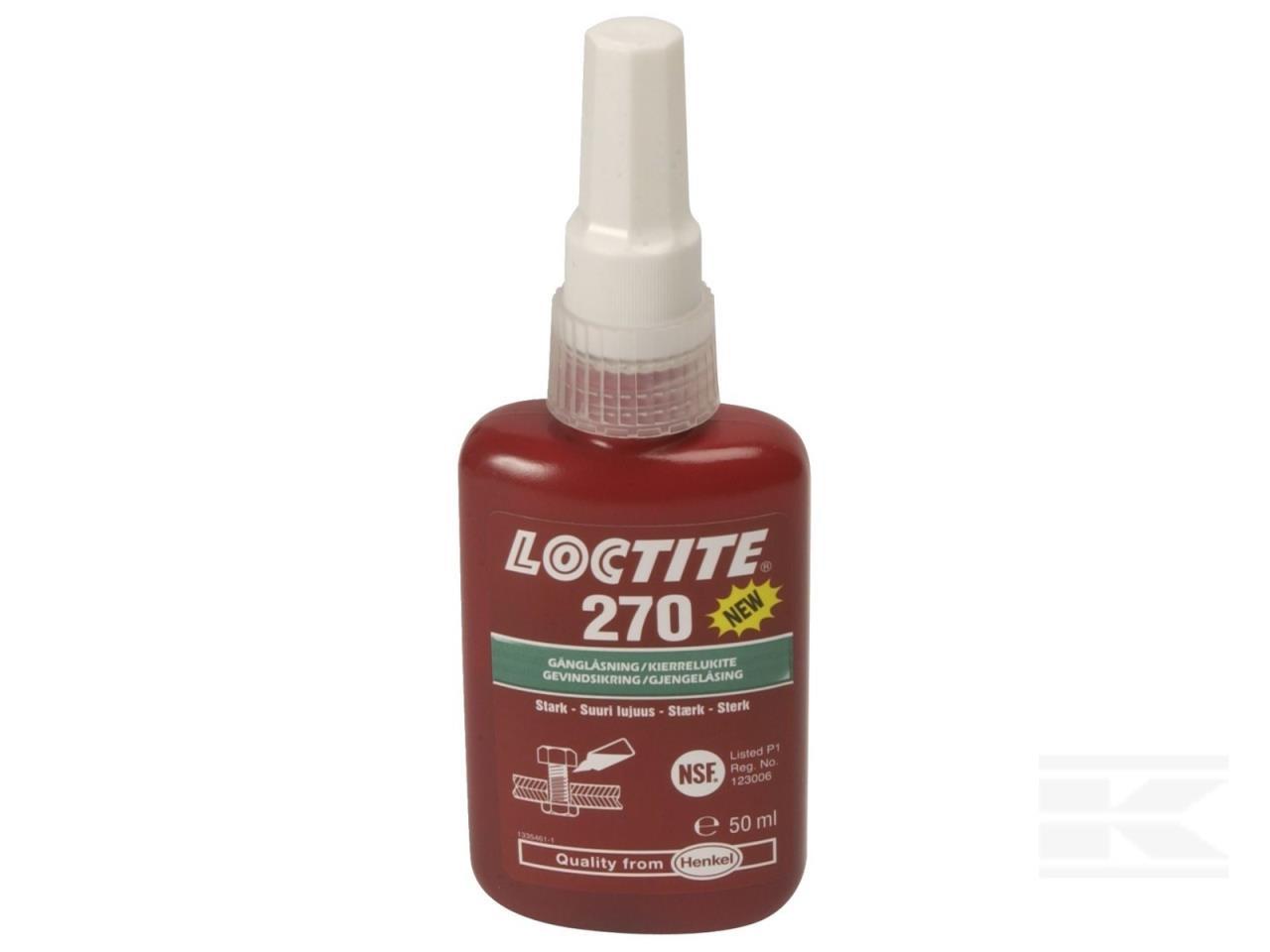 Loctite270 Gevindsikring stærk grøn 50ml
