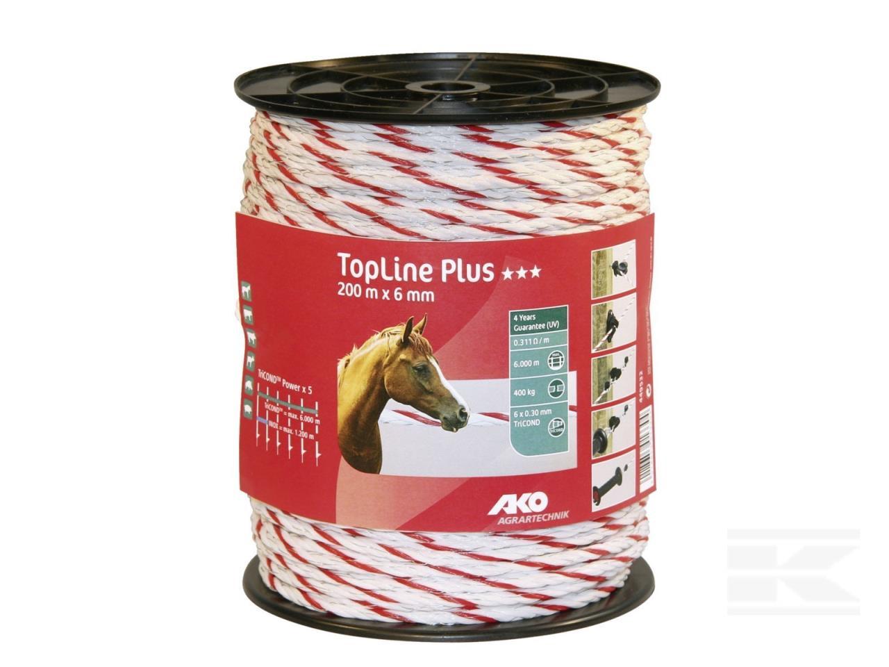 Polyreb 6mm, TopLine, rød/hvid
