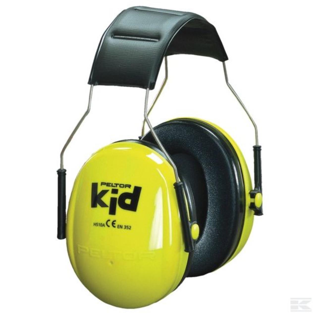 Peltor Høreværn Kid   Neongrøn