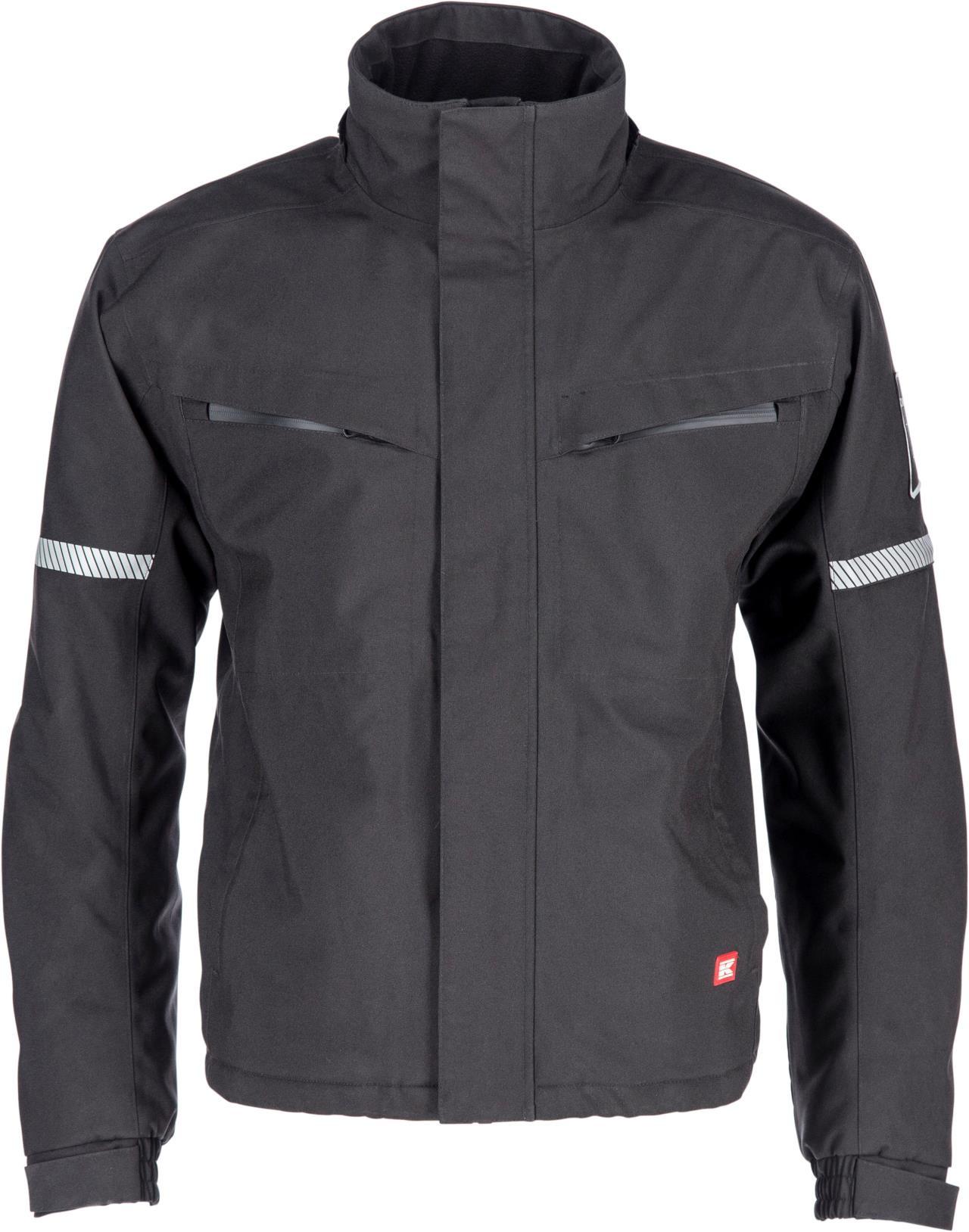 Kramp sort jakke med hætte Original L