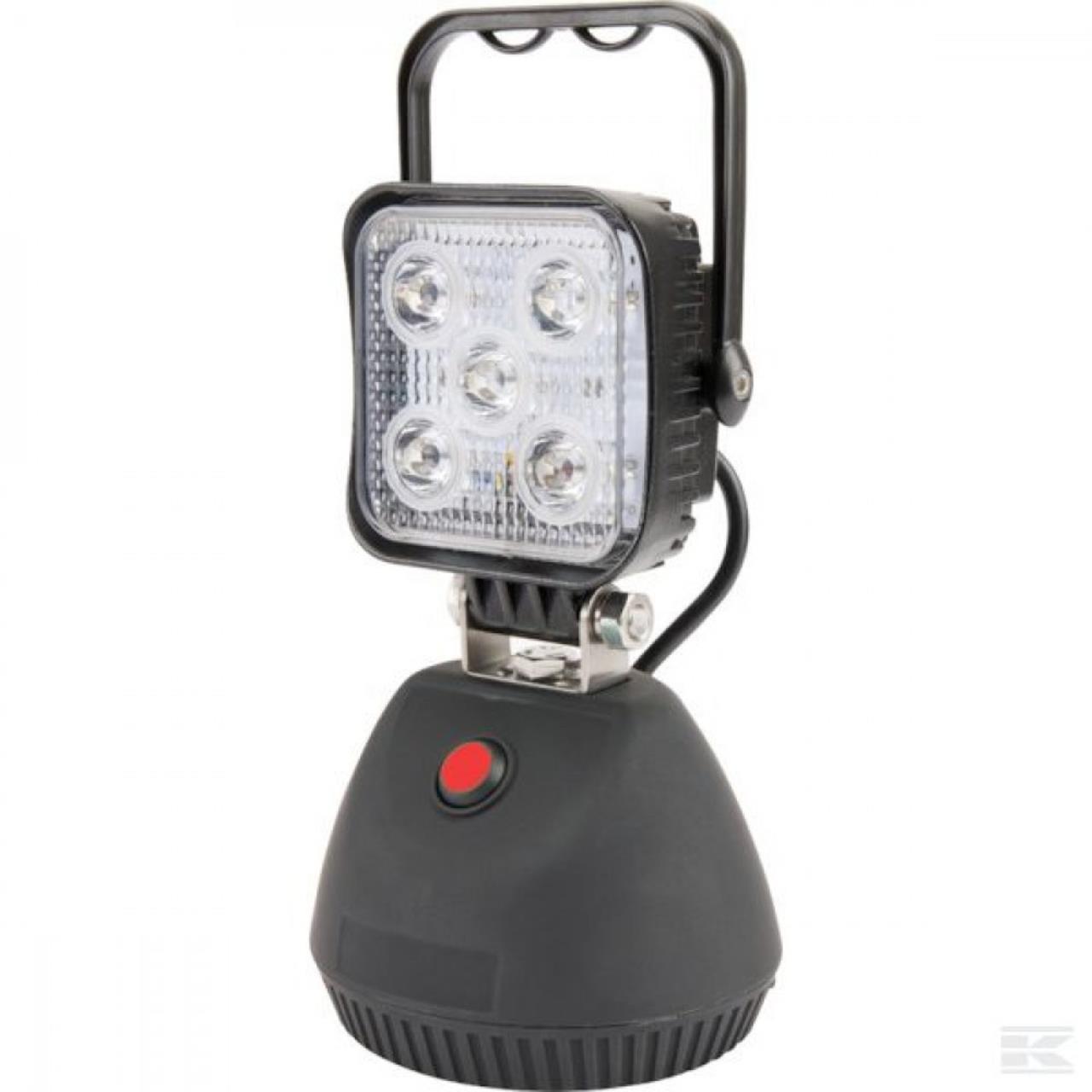 LED mobil akku-arbejdslampe m/magnetfod