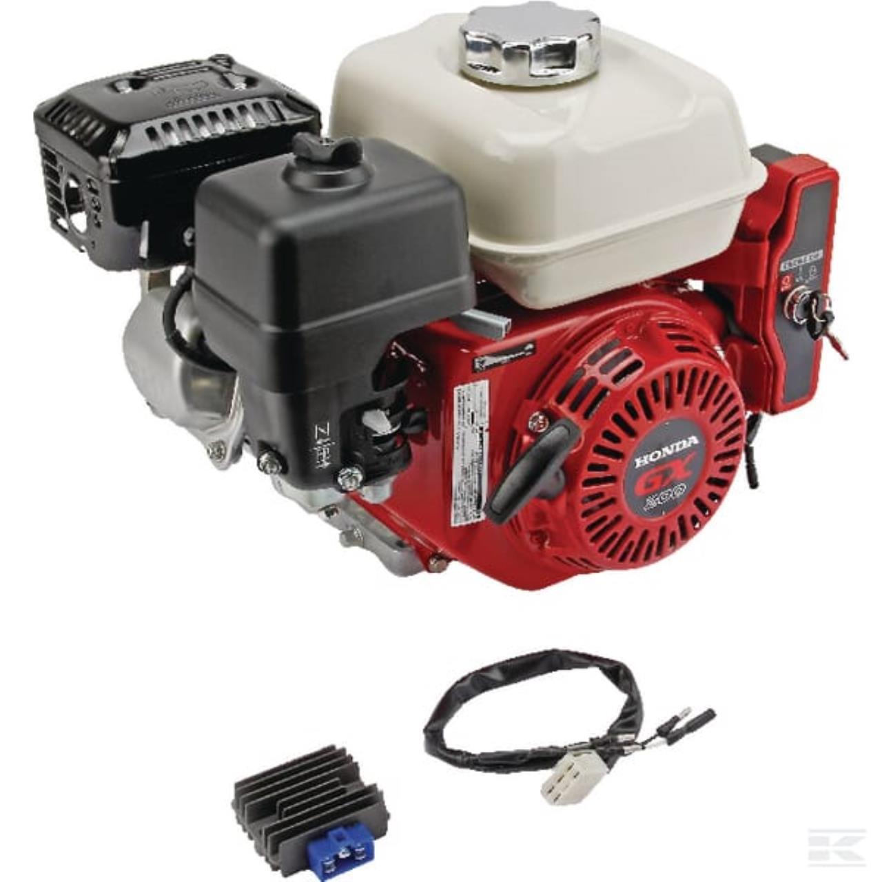 Honda benzinmotor m/el-start, 7,0 Amp ladespole