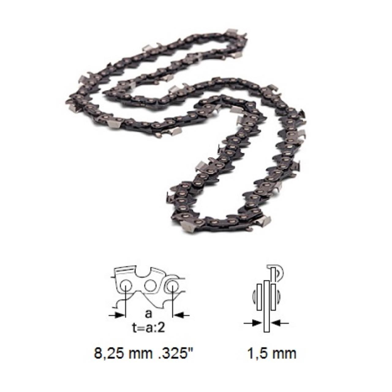 "Husqvarna savkæde .325"", 1,5 mm, halvmejsel"