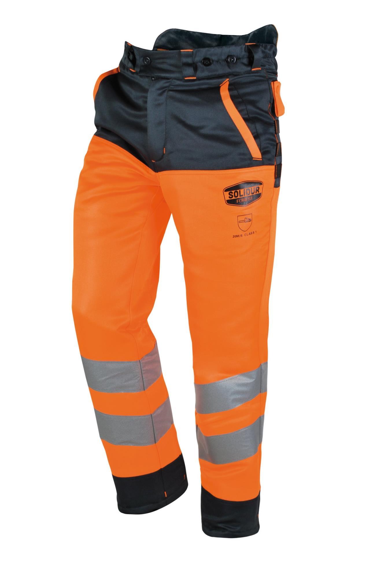 Solidur Orange Sikkerhedsbukser Kl.3-28m/ISO20471