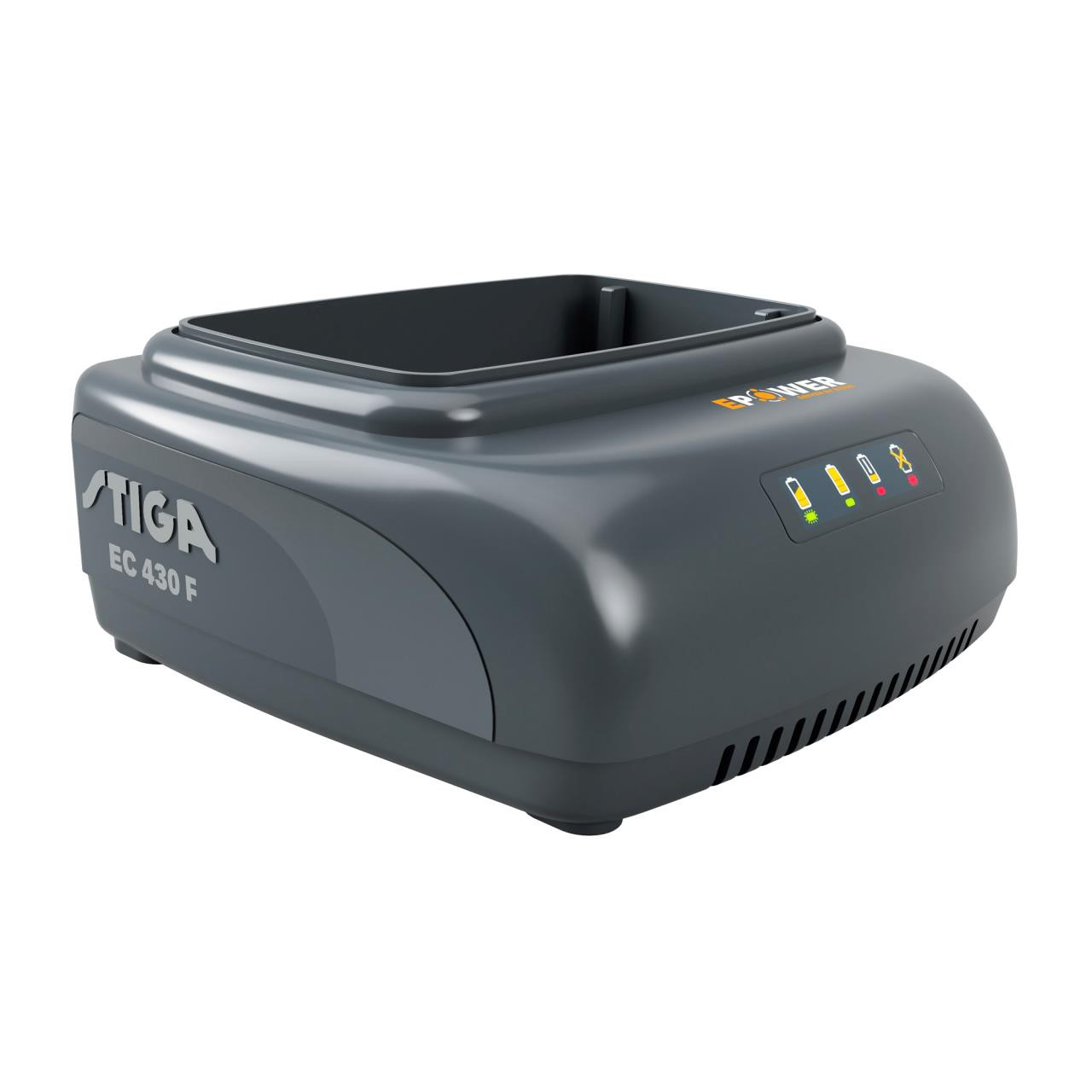 Stiga EC430F hurtiglader 48 volt - 3,0Ah