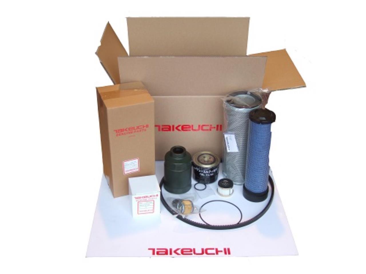Takeuchi TB135 filterkit - op til s/n: 13514050
