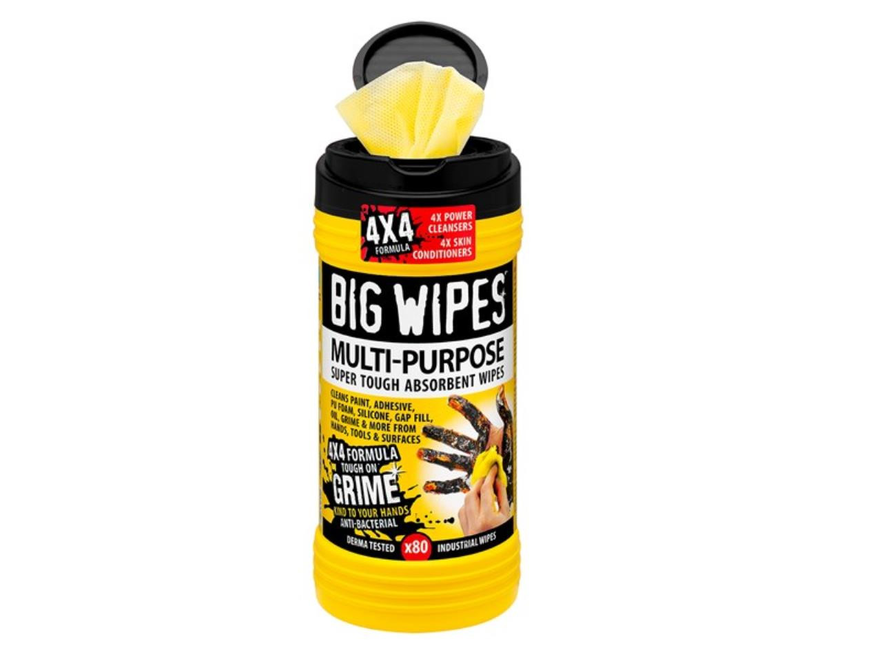BigWipes Renseserviet Multi-Purpose SortLåg 80stk.